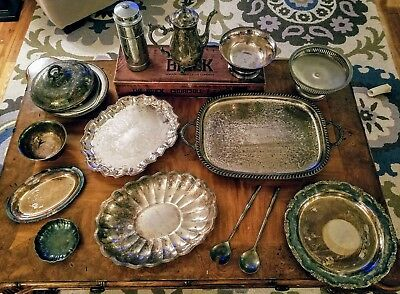 Vintage Silver Plated Serving Items (Lot 16)