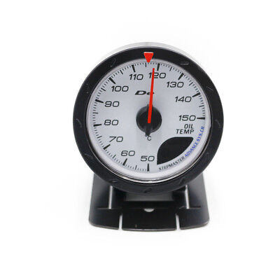 "2.5"" 60mm Defi White/Red LED Pointer Oil Temp Temperature Gauge with Sensor 12V"