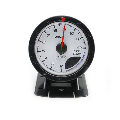 "2.5"" 60mm Defi Red/White LED Exhaust Gas Temperature Gauge White Face Car Meter"