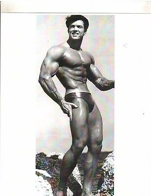 bodybuilder DON PETERS Bodybuilding Muscle Photo B+W