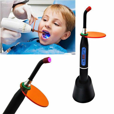 10W 2000MW Black Wireless Cordless Dentist Dental LED Curing Light Cure Lamp US