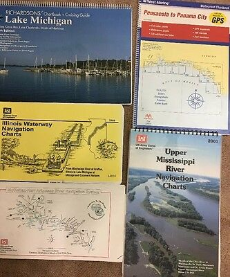 Us Army Corps Engineers Navigation Charts,Mississippi, Illinois,Arkansas & More