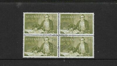 Australia Pre-Decimal 1964, 7/6d- 'Cook Navigator  ' block of 4 very fine used