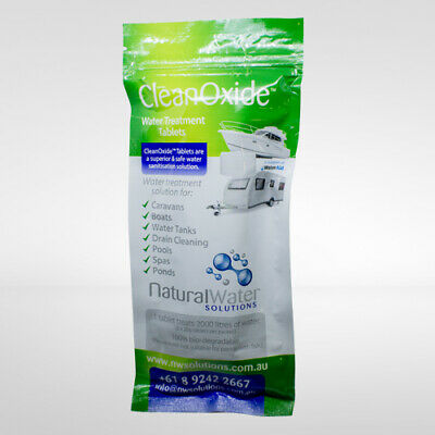 Chlorine Dioxide -  CleanOxide 20g Tablets Purify Water