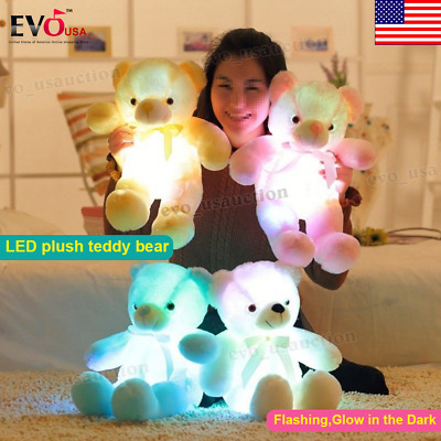 Huge Cute LED Teddy Bear Plush Luminous Stuffed Giant Soft Toy Big Birthday Gift