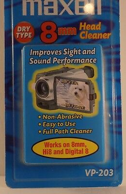 Maxell 8mm Dry Type Video Head Cleaner VP-203