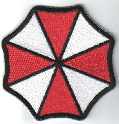 Resident Evil Umbrella Corporation Logo Large Shoulder Embroidered Patch, NEW