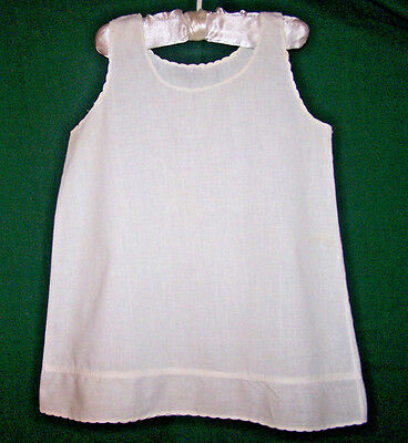 "Vintage Baby Slip, 20"" Long, Victorian Era, Snow White, Excellent Condiiton,1900"