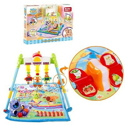 Trapeze & Hippo Activity Mat Play Gym Mat/Musical Baby Play Mat New In Gift Box