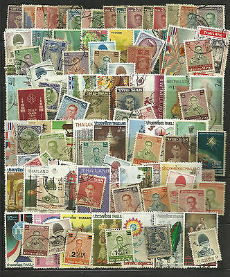 THAILAND STAMP COLLECTION PACKET of 100 DIFFERENT Mostly Used NICE SELECTION