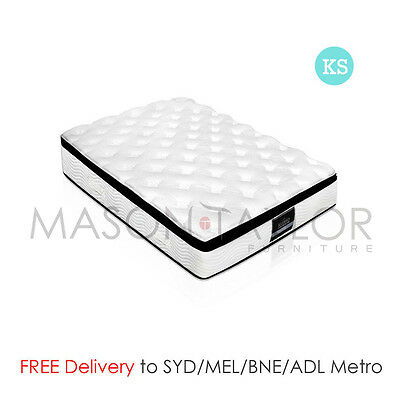 FREE DELIVERY(T&C) Latex Pillow Top Pocket Spring Mattress King Single Size AU