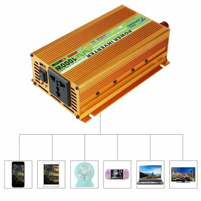 1000W/1500 pure sine wave converter power inverter DC 12V to AC 220V invertor FE