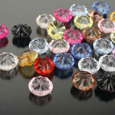1000PC LOTS Bulk Round Crystal Resin Buttons Sewing Craft DIY Candy Color 12.5MM