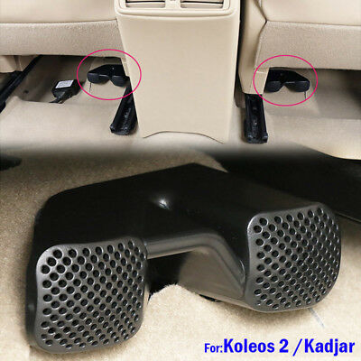 For Koleos II Kadjar Seat Rear AC Heat Floor Air condition Duct Grill Vent Cover