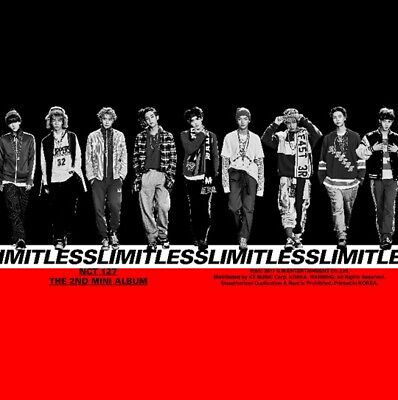 NCT #127 [LIMITLESS] 2nd Mini Album CD+Photo+2POSTER+Book+Sticker+Card+GIFT CARD