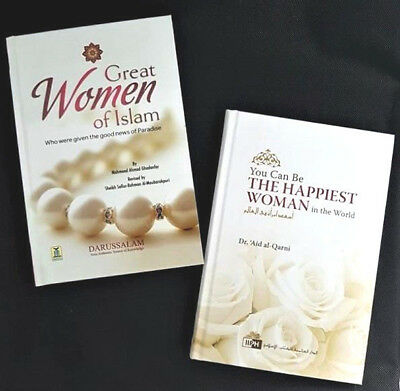You Can Be the Happiest Woman in the World / Great Women of Islam - 2 Books -HB
