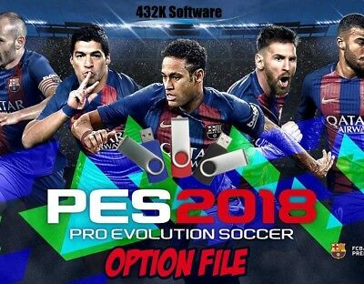 PES 2018 Option File on USB For PS4 - Pro Evolution Official Kits & Logos