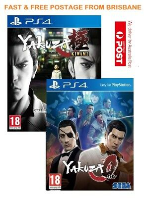 Yakuza 0 & Kiwami PS4 Game Bundle Brand New In Stock From Brisbane