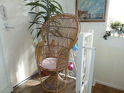 retro vintage 60`s armchair peacock style chair