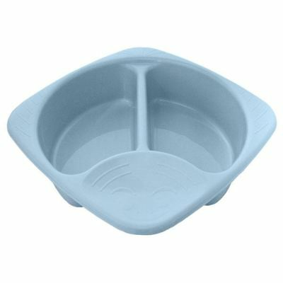 Junior Joy Top and Tail Baby Wash Hygiene Bowl 2 Sections Easy to Clean - Blue