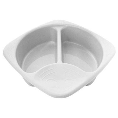 Junior Joy Top and Tail Baby Wash Hygiene Bowl 2 Sections Easy to Clean - White