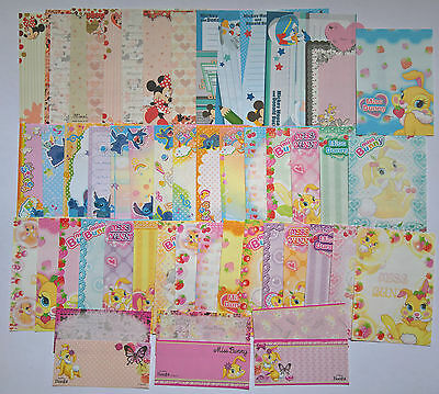 Disney Kawaii Memo Note Stationery Lot of 51 Sheets Stitch Minnie Miss Bunny