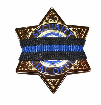 Thin Blue Line Law Enforcement Badge Mourning Band