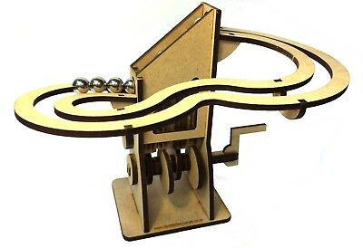 Simple Marble Machine, Wooden Rolling Ball Kit