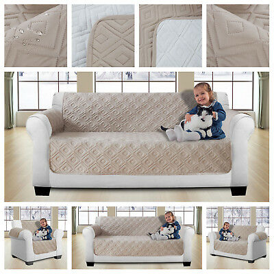 Quilted Sofa Protector Throw Furniture / Pet Protector Cover Water Resistant