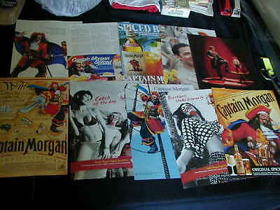 lot of 17 captain morgan magazine print ads 1972 to 1992 NICE ad collection