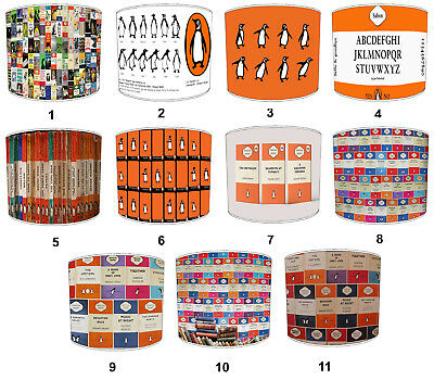 Puffin Books Lampshades Ideal To Match Cushions, Duvet Covers.