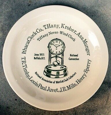 1971 National Association Of Watch & Clock Collectors Plate, Buffalo, Ny