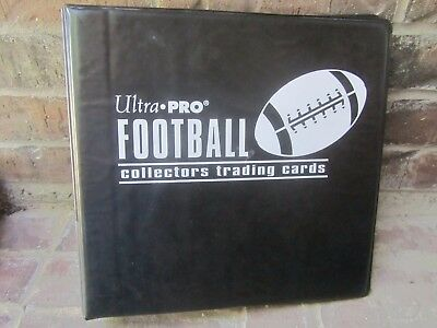 "Black Ultra Pro 3 1/2"" 3-Ring Football Binder Album w/ 80+ Ultra Pro Pages"
