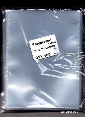 Stockcard Postcard Photograph Clear Polyprotec Wallets Sleeves 180 x 130mm  ♺