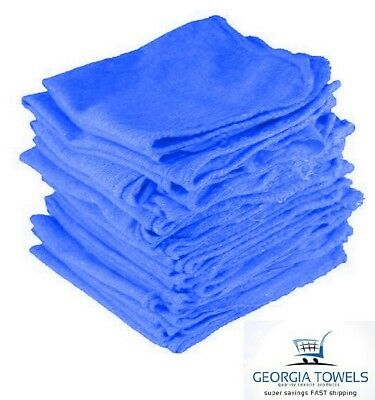 500 count mechanics shop rags towels blue large jumbo 14x14 pacific mills 145#
