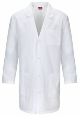 Dickies Lab Coat Scrubs Unisex 83402 EDS Professional White All Sizes NWT