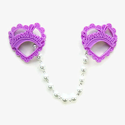 Purple Sweetheart Sweater Clip