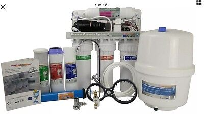 Reverse Osmosis Pumped Water2buy RO600 5 Stage Filter Free 3Way Filter Mixer Tap