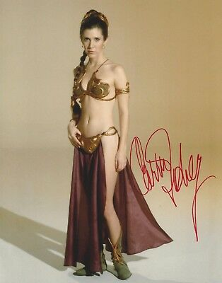 Carrie Fisher Signed Reprint 8X10 Photo - Star Wars  -  Princess Leia - H274