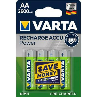 4x Varta 5716 Akku-Batterie Ni-MH Mignon AA New Power 2600 mAh