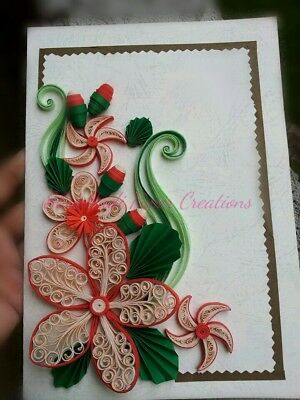Paper quilling card hand made Birthday Anniversary gift