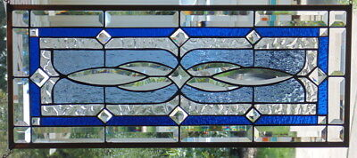 """Stained Glass window hanging 28 X 12"""""""