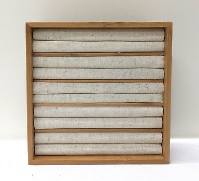 NEW Pottery Barn Dillon Drawer Jewelry Storage, Ring Holder, Bamboo