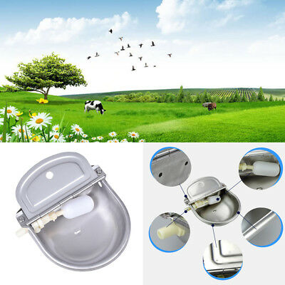 Stainless Steel Auto Water Bowl Horse Cow Dog Drink Sheep Goat Automatic Supply