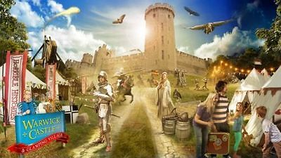 WARWICK CASTLE Tickets - - WEDNESDAY 18TH OCTOBER -18/10/17 £10 EACH  4 left