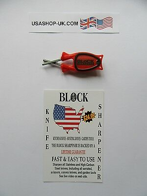 Knife Sharpener-The famous 'BLOCK' system, made in USA.@£9.75