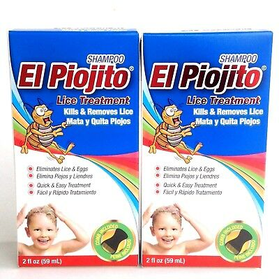 2 SHAMPOOS EL PIOJITO 2 oz - EFFECTIVE LICE TREATMENT SHAMPOOS