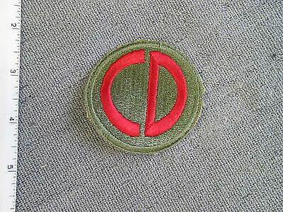 Early 1942 US Army 85th Infantry Division large size patch from NS Myers Library