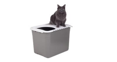 Petmate Stay Fresh Top Entry Hooded Cat Litter Pan