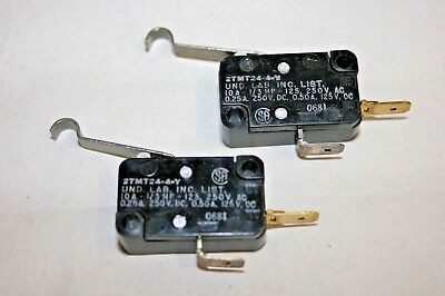 2 PACK Microswitch - N/O w/Simulated Roller - 10A@125/250VAC (100-513)